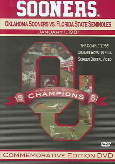 1981 OKLAHOMA SOONERS VS FLORIDA STAT (DVD)